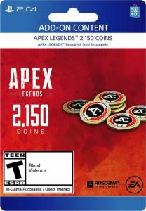 گیفت کارت Apex legends پلی استیشن 2150 Coins