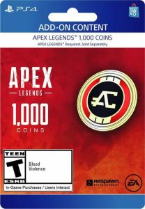 گیفت کارت Apex legends پلی استیشن 1000 Coins